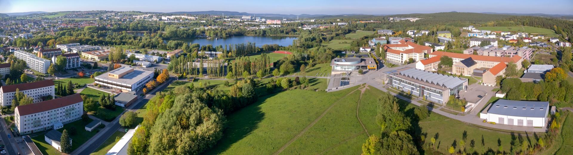 Blick auf den Campus der TU Ilmenau